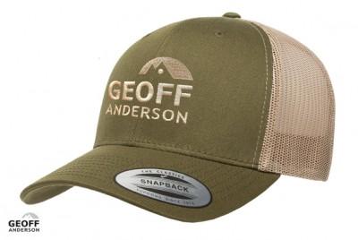 GEOFF Anderson Kappe Snapback olive